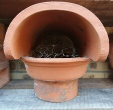 """Pizza oven rain top cowl chimney rain hat terracotta to fit  (7.5""""-8.5"""") opening"""