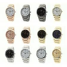 Luxury Mens Fashion NY LONDON Retro Stainless Steel Round Waterproof Wrist Watch