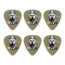 Go Westie West Western Cowboy Dog Novelty Guitar Picks Medium Gauge - Set of 6