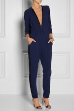 By Malene Birger Neemi silk twill-trimmed drapy crepe jumpsuit size 42