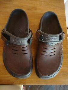 Mens Crocs Yukon size 11 used BROWN LEATHER VGC