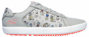 Skechers Women's Golf Drive 4 Dogs at Play Golf Shoes 17011 Gray/Pink Ladies New