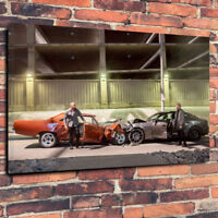 76x50CM Fast And Furious Canvas Art Framed Print 30x20 Inch