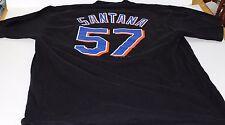 New York Mets Johan Santana #57 Majestic Black Men's Jersey T Shirt Size XL