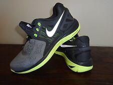 Men's Nike Nike LUNAR ECLIPSE Size 8 Gray Mesh Neon Lunarlon New No Box