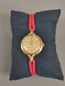 99820063 Vergoldete Damen-Armbanduhr Ruhla Handaufzug
