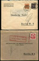 GERMANY Deutsche Bank Covers Postage Stamp Collection 1923 1934