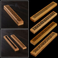 Hollow carved Aromatherapy Bamboo Incense Box Ash Catcher Censer Incense Holder