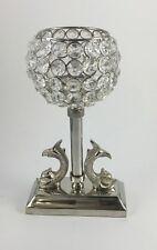 Crystal beads Tea light Holder with a tea light; 24cm Ht/ Party table