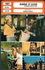 BONNIE ET CLYDE - Beatty,Dunaway,Penn (Fiche Cinéma) 1967