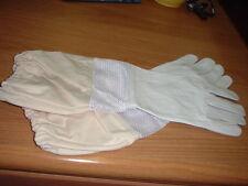 "Bee Keeper Gloves, Goatskin leather, 18"" ventilated sleeve (BZ366/MEDIUM)"