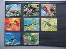 BHUTAN, set 3D insects, set + 2x S/S, bee grasshopper beetle