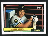 Orlando Merced #637 signed autograph auto 1992 Topps Baseball Trading Card