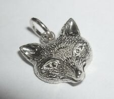 Sterling Silver Fox Head Pendant Equestrain Horse Dressage Hunting Jumping UK