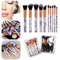 10X Marble Make up Brushes Set Blusher Face Powder Foundation Eyeshadow Kabuki
