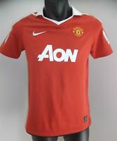 MANCHESTER UNITED FOOTBALL CLUB JERSEY AON BOYS SIZE LARGE 12-13 YRS NIKE