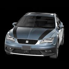 Motorhauben-Streifen Foliensatz Seat Leon Cupra Bonnet-Stripes Tuning (schwarz)