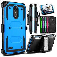 For LG Stylo 5/4/3 Plus Case Belt Clip Holster Hard Kickstand Hybrid Phone Cover
