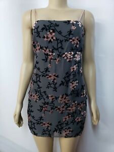forever 21 contemporary Woven Gray Women's Dress Size M NWT #CB2