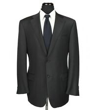 Canali 1934 Wool 2-Btn Suit Gray/Blue Grid Check Pattern Size 42L