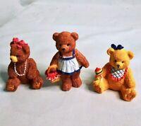 Vintage BC Bronson Collectibles Bears Porcelain Decorative Figurines - Lot of 3