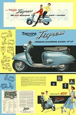 Classic scooter poster. Reproduced from the 1958 Triumph Tigress brochure