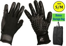Pet Grooming Gloves for Shedding and Bathing. Cats, Dogs, Rabbit, Horses S-M