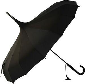 Soake Stunning Classic Plain Pagoda Style Long Walking Umbrellas