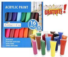 Lot de 16 couleurs de Peinture Acrylique 36 ml  pour artistes