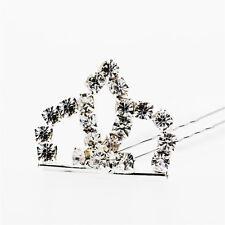 Decorazione matrimonio argento strass WHITE Crown fermaglio accessori ha217