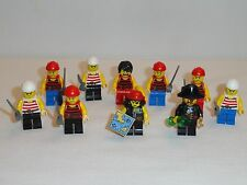 NEW LEGO Lot of 10 Pirate Mini Figures Swords Free Shipping