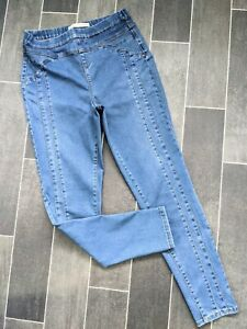 CASUAL GEORGE HIGH RISE BLUE SUPER STRETCH ELASTIC WAIST JEGGING JEANS SIZE 12