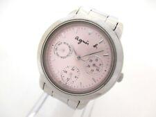Auth agnes b V33J-0010 Pink Silver 9N5049 Women's Wrist Watch
