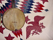 ANTIQUE  COLLEGIATE P MICO NEW YORK BANJO  DOUBLE F HOLE ON BACK UNUSUAL
