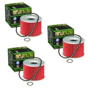 Hiflofiltro Oil Filter 3 Pack For Motorcycles Honda Kawasaki Triumph Yamaha