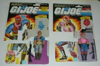 1986 GI Joe Dreadnok Twin Figure Lot Zarana & Zandar Complete Set File Card Back