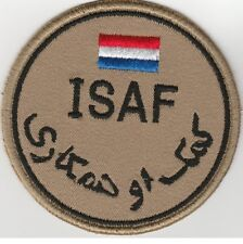 ISAF. AFGHANISTAN. NATO forces NETHERLANDS patch DESERT 'N' VLCRO