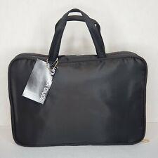 New, Sonia Kashuk Weekender Black Cosmetic Travel Bag with 3 Zip Pockets