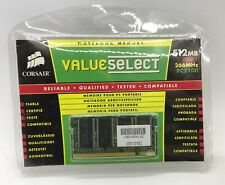 Corsair Value Select Note book Memory 512MB DDR1 266MHz PC2100 New