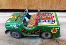 Vintage 1950's USA JEEP Tin Litho Friction Toy Car Japan