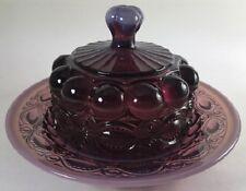 Butterdish - Eyewinker - Plum Opalescent Glass - Mosser USA
