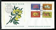 Netherlands Antilles Child Welfare 1964, Flowers: Bougainvillea,  FDC. x21737