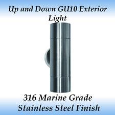 2 Light up & Down Gu10 Exterior Wall Light in 316 Marine Grade Stainless Steel