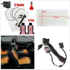 12V 2 Seats 4 Pads Carbon Fiber Car SUV Seat Heater Pad Winter Warmer Seat Cover