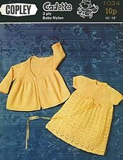Baby knitting pattern Lacy Dress and Coat  copy gorgeous designs