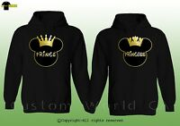 Couple Hoodie - Prince & Princess - His And Hers New Couple Sweatshirts Clothes