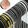 Wholesale 925 Sterling Silver Chain Women Men Necklace 16''-30'' New Lot Jewelry