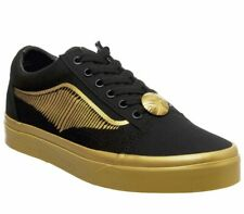 GENUINE CHILD/ADULT HARRY POTTER OLD SKOOL GOLDEN SNITCH VANS TRAINERS - NEW