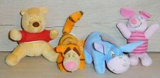 4 WINNIE POOH PLUSH TOYS BY CROWN CRAFTS FOR INFANTS
