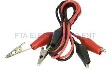 Pair of Dual Red & Black Test Leads with Alligator Clips Jumper Cable 16GA Wire